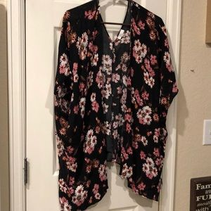 Charming Charlie Flower Pattern Cardigan
